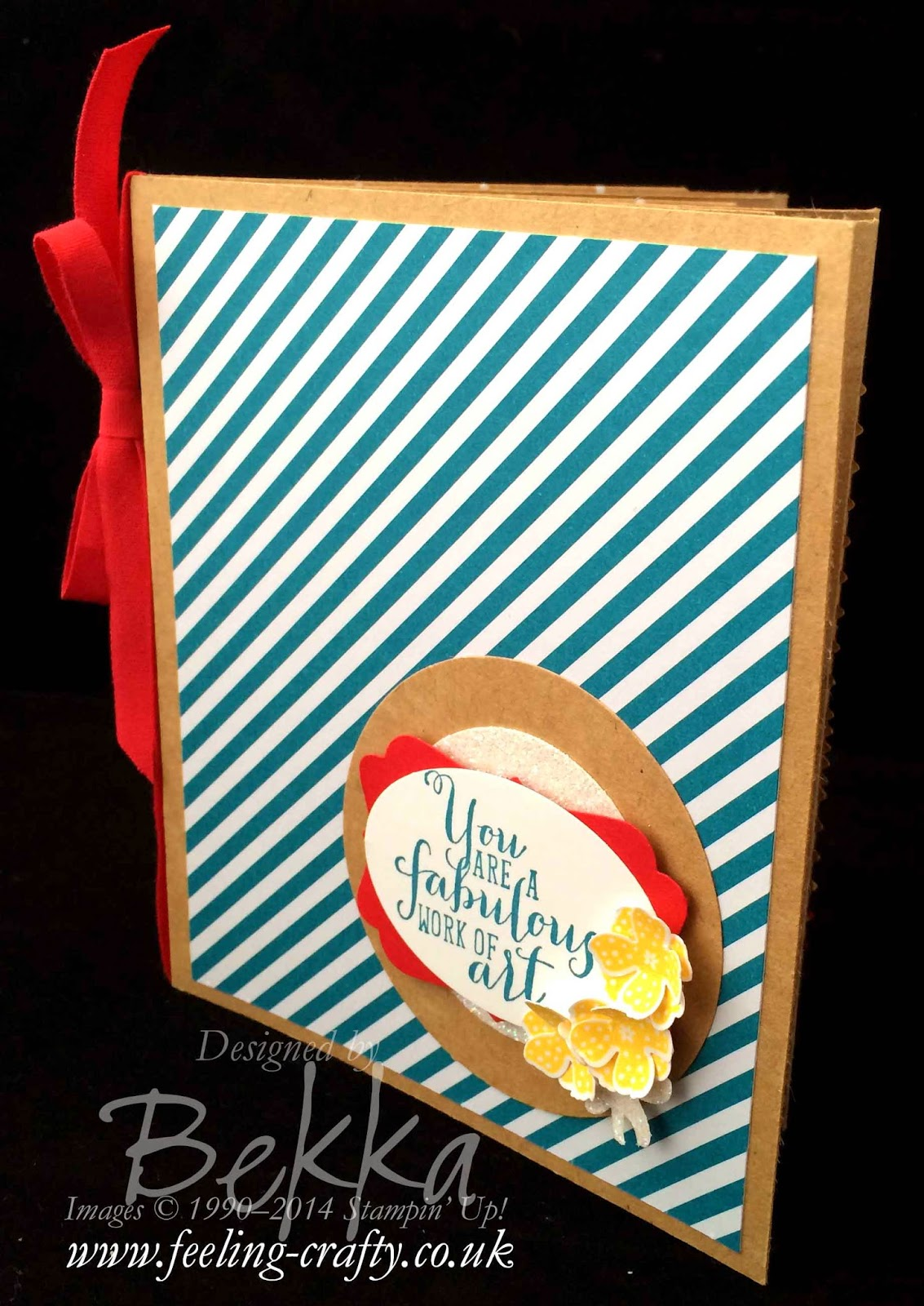 Work of Art Paper Bag Book with some cute punch tricks - check out this blog for lots of cute ideas