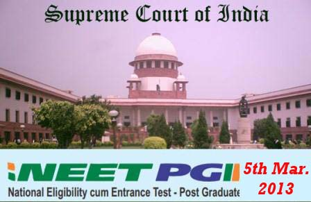 NEET PG Case 5th March 2013 Updates: Case will continue on 6th March