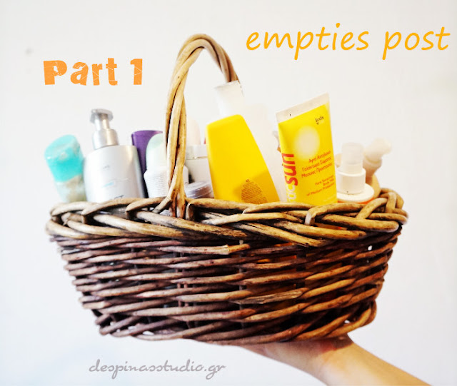 Empties post Sunscreen and haircare