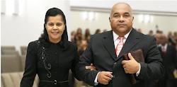Pr. Presidente Ailton José Alves  e Ir. Judite Alves