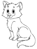 Animal Baby Wolf Printable Kids Coloring Pages
