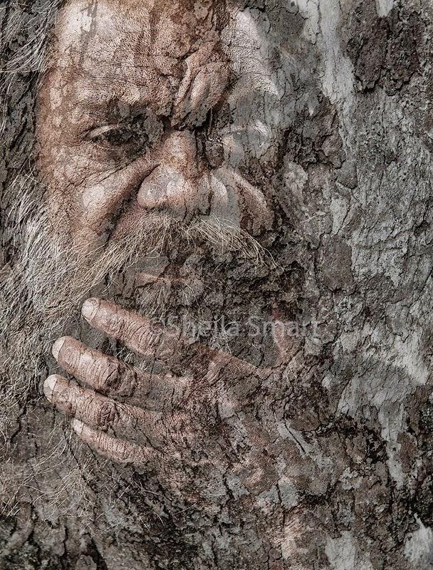Australian aborigine with texture