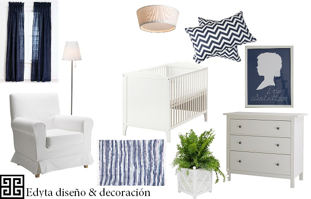 Edyta dise o decoraci n blog de decoraci n azul for Mobiliario habitacion bebe