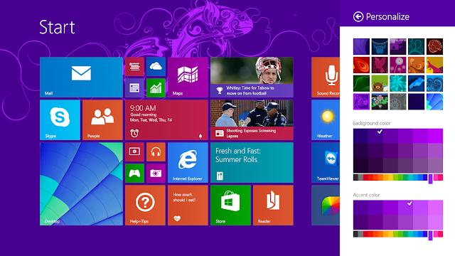 Cara Merubah Background Menu Start Windows 8.1.0