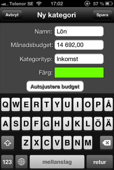 inkomst koll app