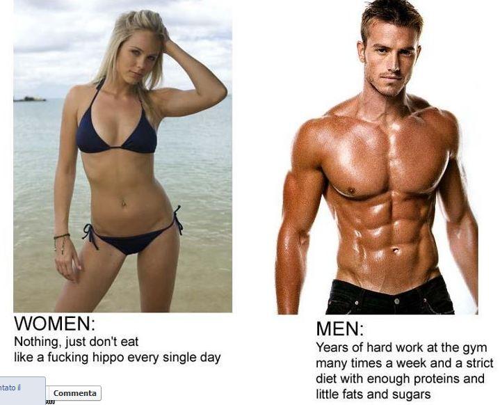Il Mio Delirium Differenze Uomo Donna Per Ottenere Un Bel Fisico