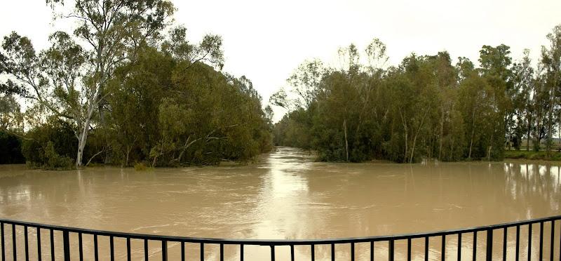 El mismo paraje durante las inundaciones de diciembre de 2009