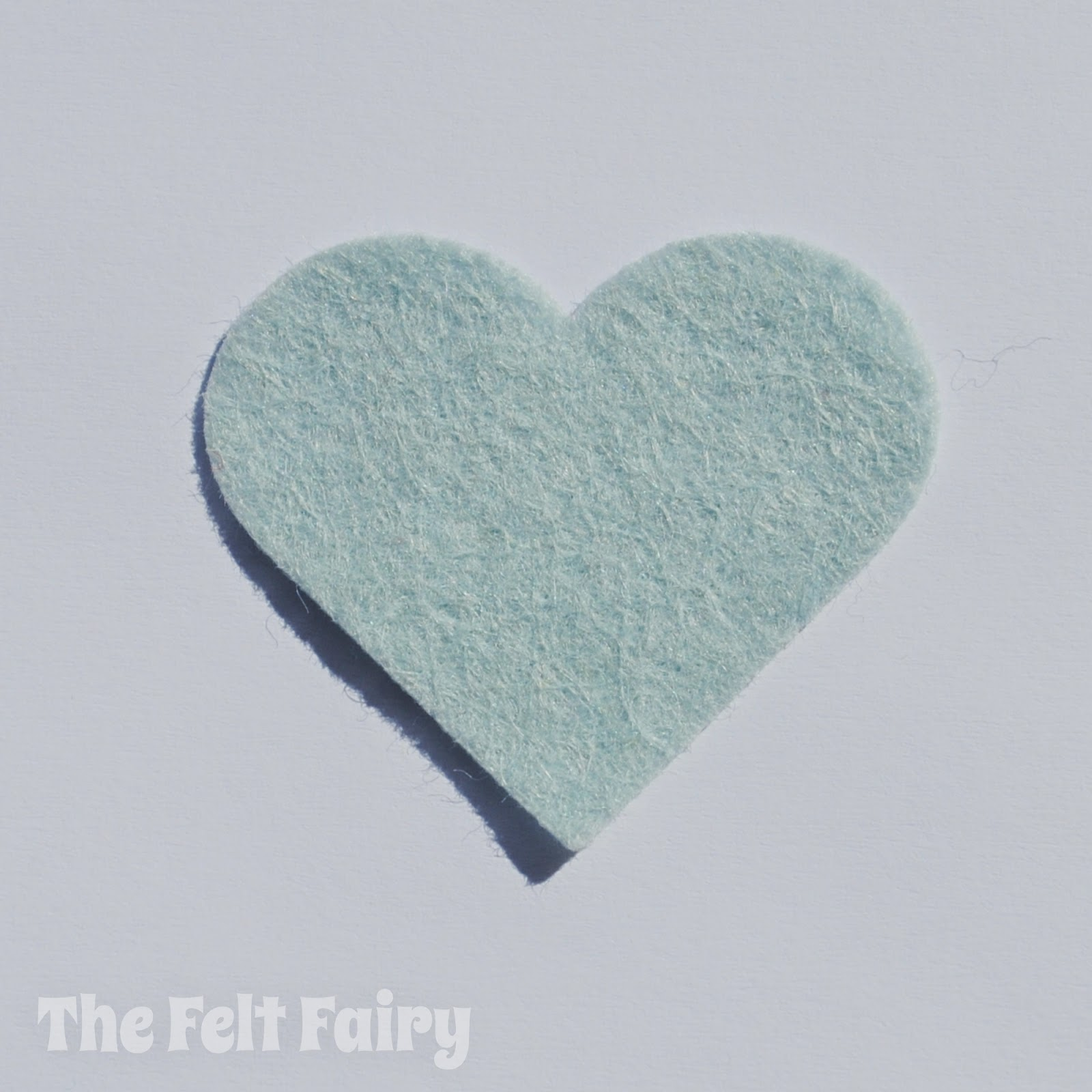 Duck Egg Craft Felt Heart