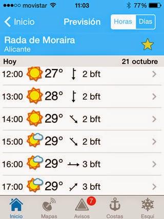 Moraira weer