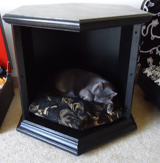 U can do this 2 dual function end table pet bed for Dog bed table