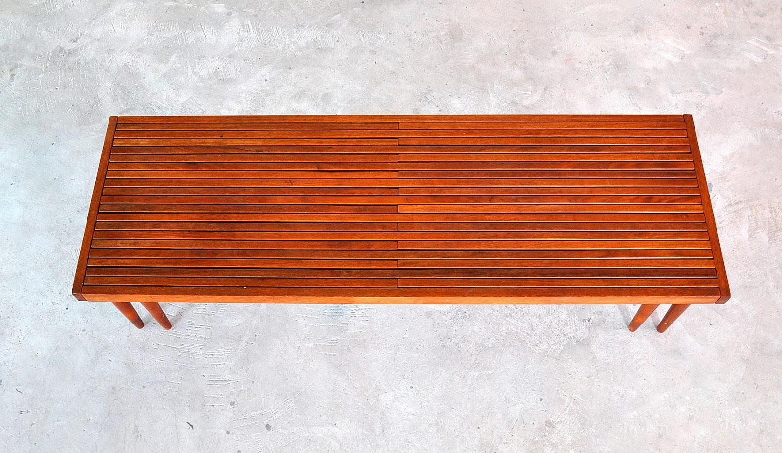 Select Modern Brown Saltman Expandable Teak Slat Bench Or