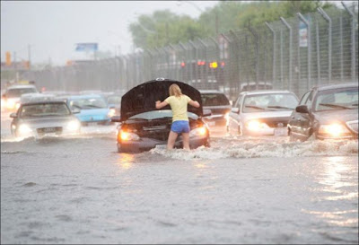 Extreme Flooding on the Streets of Toronto