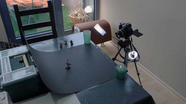 Setup zum Fotografieren von Miniaturen