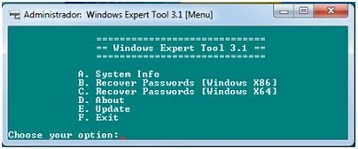 Windows Expert Tool 3.1 - Recover all Pass in Windows OS ...