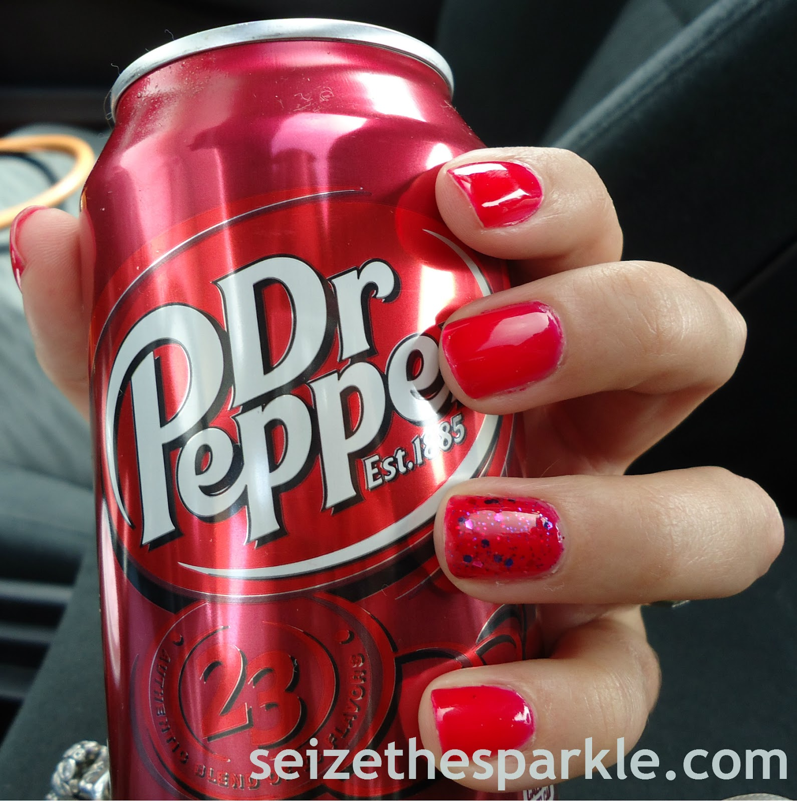 Dr. Pepper Jolly Lolly Accent Manicure