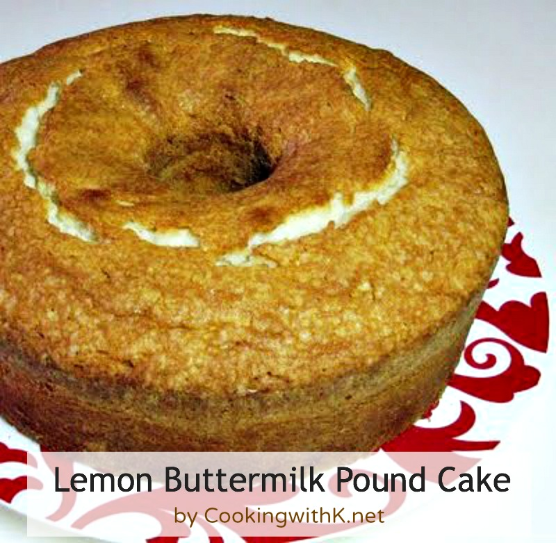 ... Kitchen Happenings: Lemon Buttermilk Pound Cake {Granny's Recipe