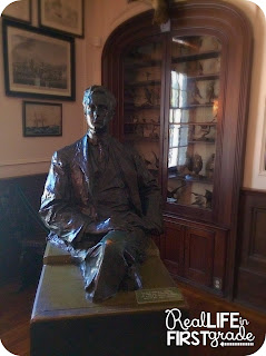 Statue of FDR & His Bird Collection from His Mansion in NY