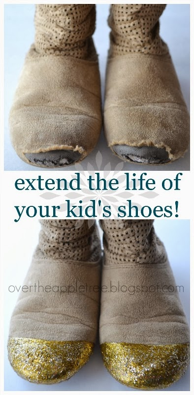 DIY kid's shoe repair by Over The Apple Tree