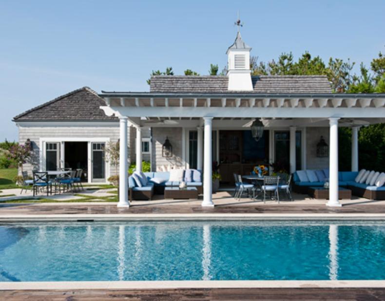 poolside coastal living room