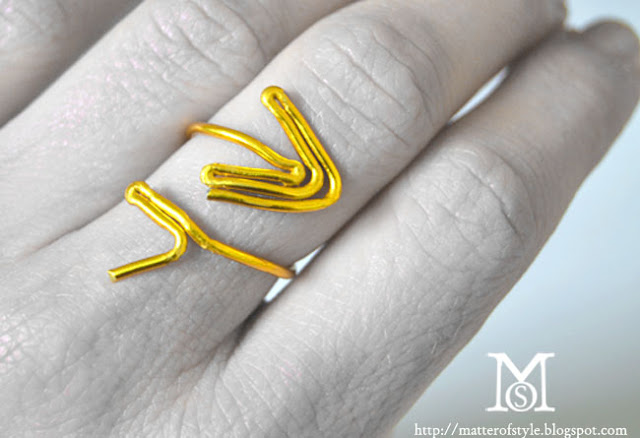 arrow ring, metallic wire, ring diy, metal wire ring,fashion diy, diy, how to, tutorial
