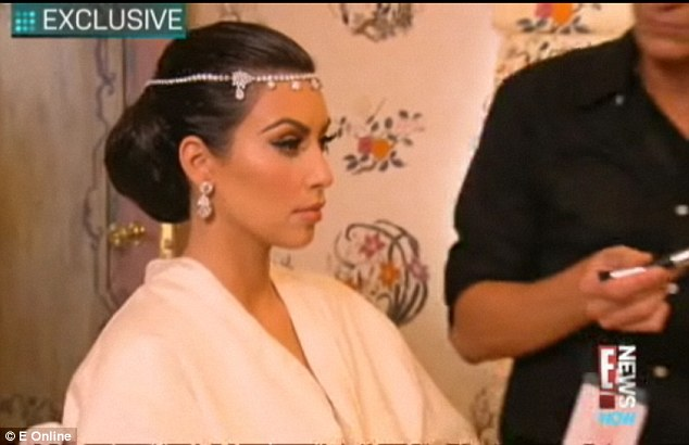 Kim Kardashian wedding headband Circlet