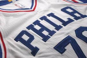 Philadelphia 76ers Rebranded Home White Jersey
