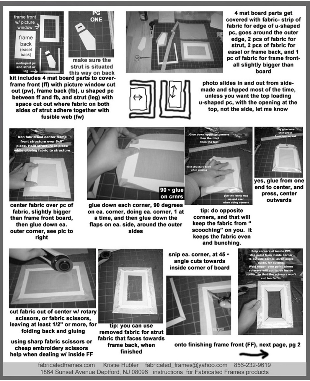 Fabricated frames fabricated means invented frames means page 1 cutting your mat board or cardboard parts covering the front of frame with fabric 4 parts ffb frame front border board front of frame with jeuxipadfo Images