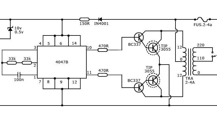 comment faire un simple onduleur 40 watt