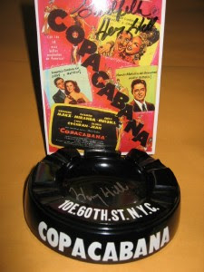 ORIGINAL ASHTRAY FROM THE COPA WITH POSTCARD SIGNED BY HENRY HILL