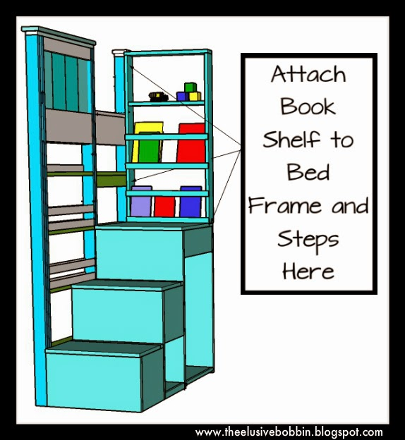 ... Bobbin: Storage Stair System for a Bunk or Loft Bed - Free Plans