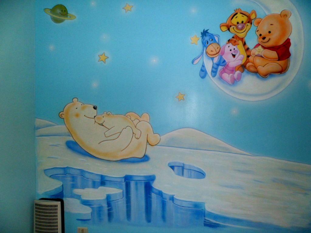 Murales infantiles mural osa polar en ezeiza Paredes infantiles pintadas