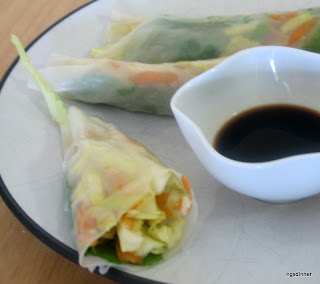 Low Cal snack Summer Rolls by NG @ What's for Dinner