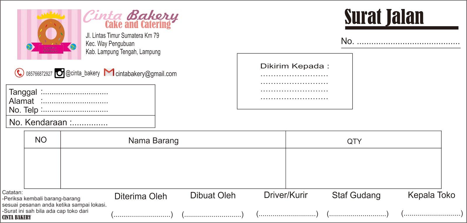 Created For Just One Purpose Contoh Surat Jalan Barang