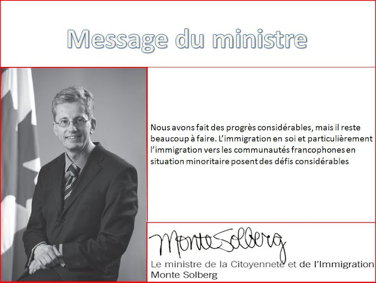 message du ministre