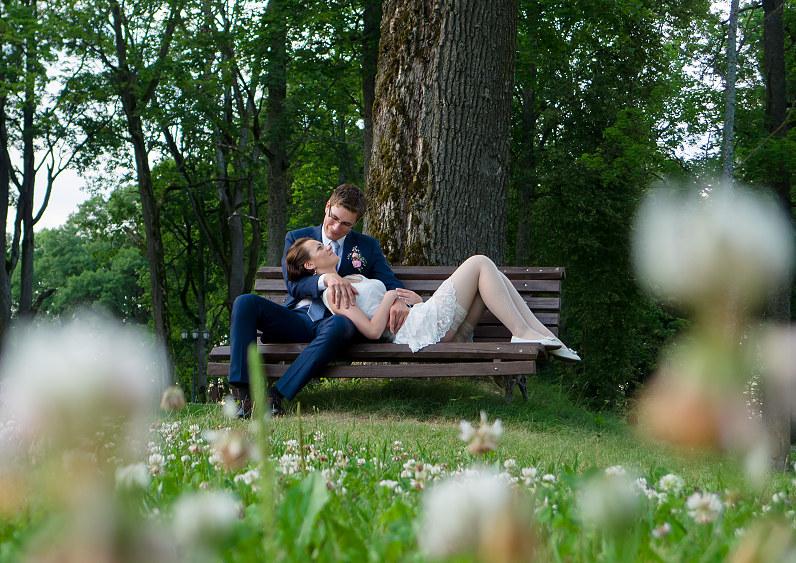 gražios vestuvių nuotraukos gamtoje