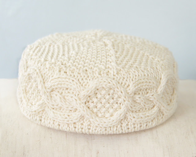 The Melanie Pillbox Hat with Aran Designs