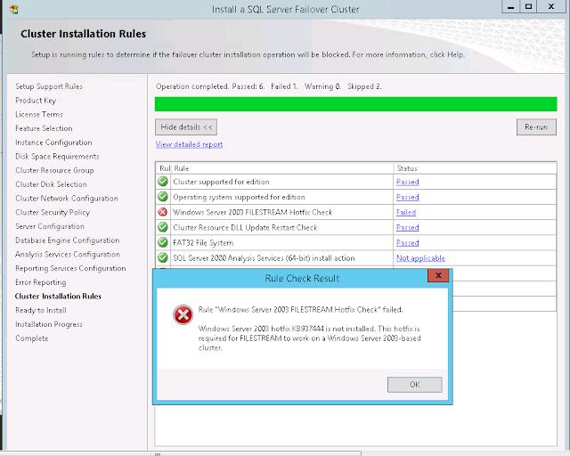 Install a SQL Server Failover Cluster