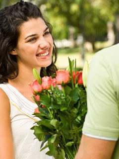 Eco-Friendly Valentine's Day For You - gift ideas - man giving woman flowers rose