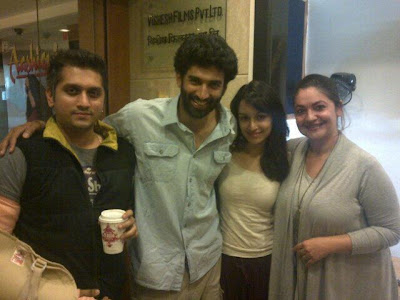 Mohit, Aditya, Shradha & Pooja celebrate the success of the music