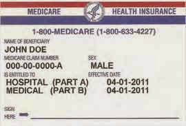 how to get red white and blue medicare card
