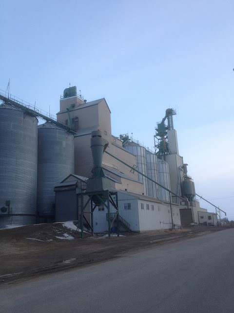 The other side of the Westlock Grain Elevator