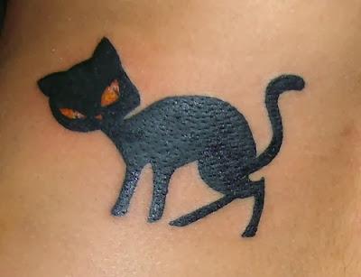 Fotos de Tatuagens Femininas de Gato