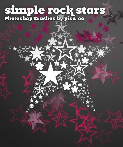 37 pinceles estrellas para photoshop