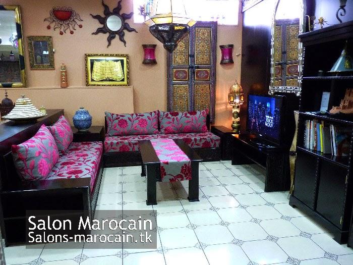 Salon Marocain Moderne Marhaba : Salon Marocain Moderne Noir Et Rouge: Boutique Salon marocain ...