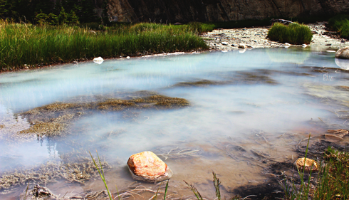 sulphur spring alberta rocky mountains travel photography