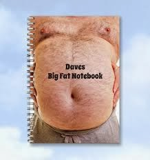 Humorous personalised notebook