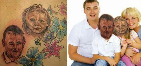 Горе татуировки Мастера фотошопа Ужасные тату