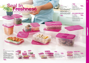 Tuppeware Rose Pink Freezer Set(13 PIECES) RM225-FREE POSTAGE