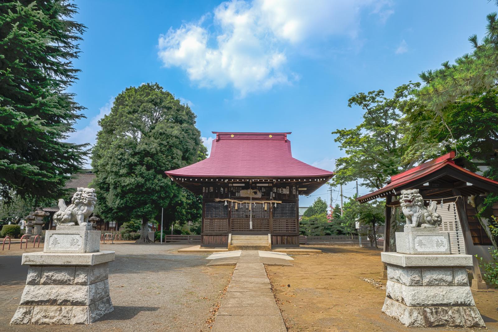狛犬と八坂神社の写真