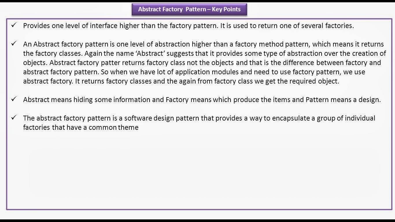 java ee  abstract factory design pattern